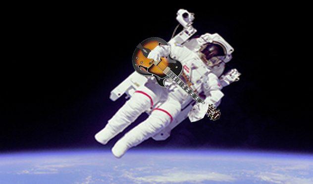 Guitar playing astronaut